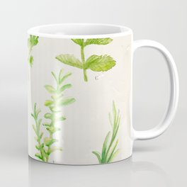 Watercolor Herbs Coffee Mug