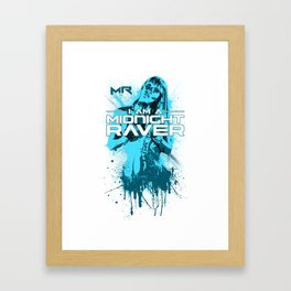 Midnight Raver Cyan Girl Framed Art Print