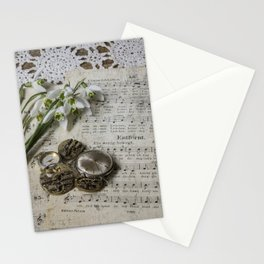 Snowdrops and Vintage Watches Stationery Cards