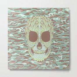 camouflage skull Metal Print