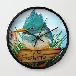 No Fishing Wall Clock