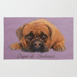 Dogue de Bordeaux Sketch Digital Art Rug