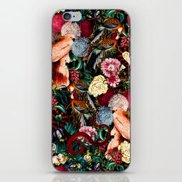 Floral and Animals pattern II iPhone Skin