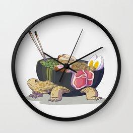 Ramen tortoise Wall Clock