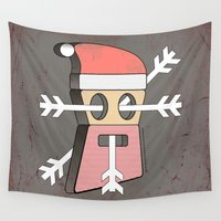 merry christmas Wall Tapestries featuring Merry christmas by AmDuf