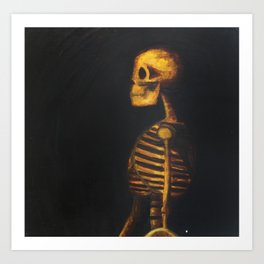 Skeleton Study  Art Print