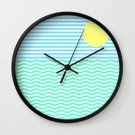 Coastline (Sunrise Blue) Wall Clock