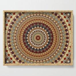 Earthy Mandala Serving Tray