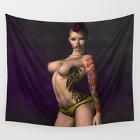 punk rock Wall Tapestries featuring Punk Rock by gypsykissphotography