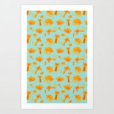 Kitty pattern Art Print