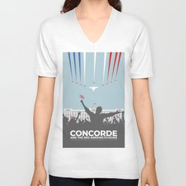 Concorde And The Red Arrows Flyover Unisex V-Neck