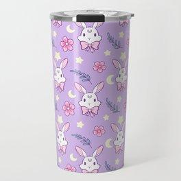 Sakura Bunny // Purple Travel Mug