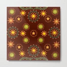 Star pattern7 Metal Print