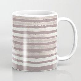 Simply Shibori Stripes Lunar Gray and Red Earth Coffee Mug