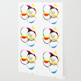 Colorful Joy  abstract geometrical art Wallpaper