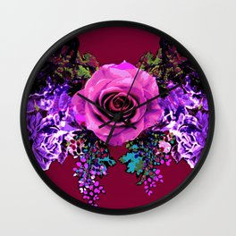 Bow of Roses /Purple(multi) Wall Clock