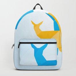 Geometric Deer and Fawn Backpack
