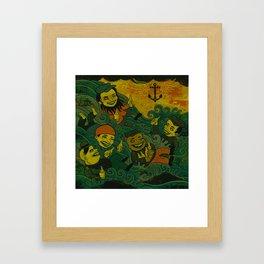 In Davy's Grip Framed Art Print