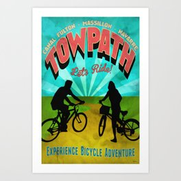 Canal Fulton Massillon Navarre Towpath Bicycle Adventure Art Print