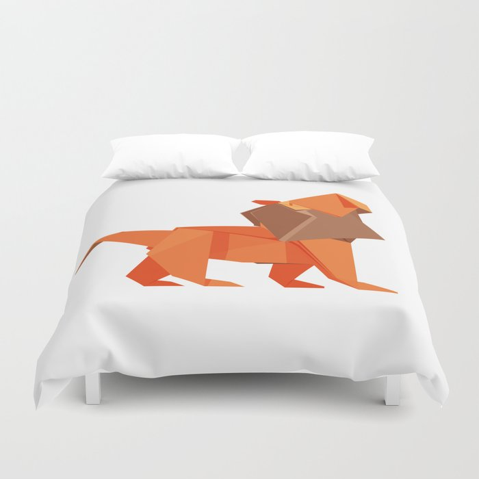 Origami Lion Duvet Cover