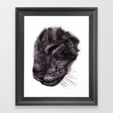 Cat illustration Framed Art Print