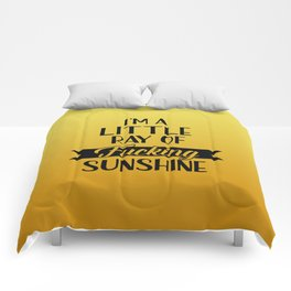 I'm A Little Ray Of Fucking Sunshine, Funny Quote Comforters