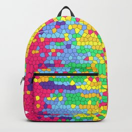 Colorful mosaic pattern Backpack