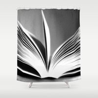 book Shower Curtains featuring Book by Rose Etiennette