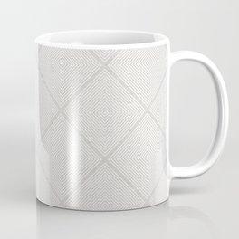 Stitched Diamond Geo in Grey Coffee Mug