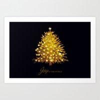 christmas tree Art Prints featuring Christmas tree by valzart