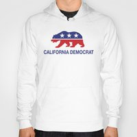 political Hoodies featuring California Political Democrat Bear by Democrat