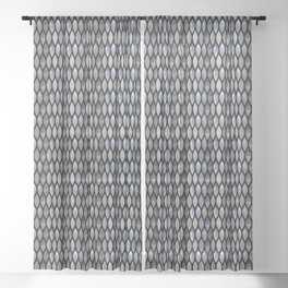 Silver Scales Sheer Curtain