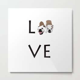 Love. English Bulldogs Metal Print