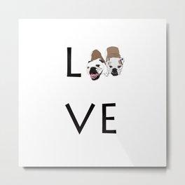 Two English Bulldogs Love Metal Print