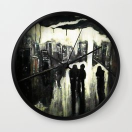 HATE THIS TOWN Wall Clock