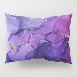 Violet Storm - Abstract Ink Pillow Sham