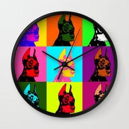 Doberman puppy dog Wall Clock