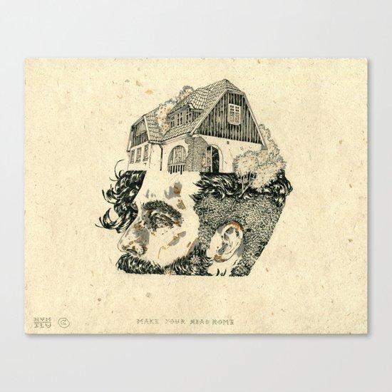 Make your head home. Canvas Print