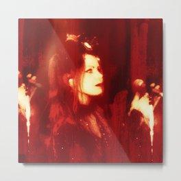 Red Monica  Metal Print