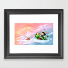Butterflies Picnic In The Sky Framed Art Print