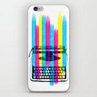 typewriter iPhone & iPod Skins featuring Typewriter by Elizabeth Cakovan