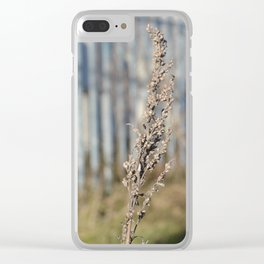 Urban Flower - City Lavender Plant Botanical Floral Photography Clear iPhone Case