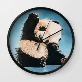 baby panda Wall Clock