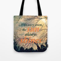 sunshine Tote Bags featuring Sunshine by Graphic Tabby