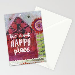 This is Our Happy Place Collage Stationery Cards
