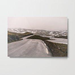 Norwegian Mountain Road Metal Print