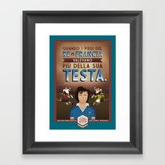 Poster Nostalgica - Platini Framed Art Print