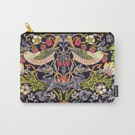 William Morris Strawberry Thief Art Nouveau Painting Carry-All Pouch