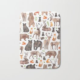 Woodland Animals Bath Mat