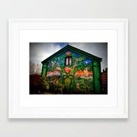 hippy Framed Art Prints featuring house hippy by  Agostino Lo Coco
